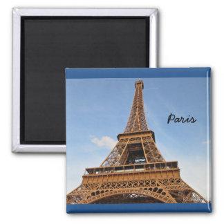 Ciérrese encima de la imagen de la torre Eiffel Imán Cuadrado
