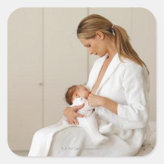 ciérrese encima de la opinión un bebé (6-12 meses) pegatina cuadrada