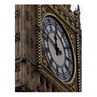 Ciérrese encima de torre de reloj de Big Ben Postal