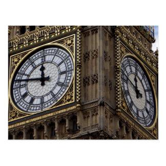 Ciérrese encima de torre de reloj de Big Ben Postales
