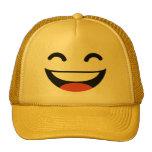 Ciérrese los ojos que ríen emoji gorros bordados