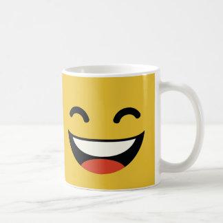 Ciérrese los ojos que ríen emoji taza clásica