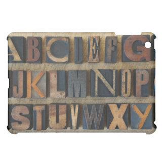 Ciérrese para arriba de alfabeto en la prensa de c