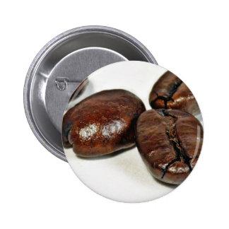 Ciérrese para arriba de algunos granos de café Ung Pin Redondo 5 Cm