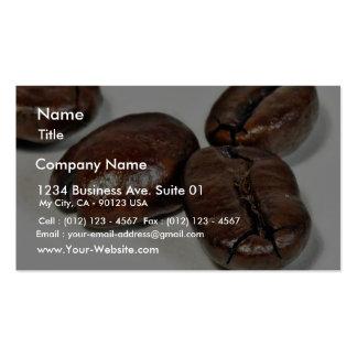Ciérrese para arriba de algunos granos de café Ung Plantillas De Tarjetas Personales