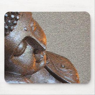 Ciérrese para arriba de Buda de plata pacífico Alfombrilla De Ratón
