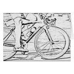 Ciérrese para arriba de la bici felicitacion