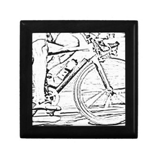 Ciérrese para arriba de la bici joyero cuadrado pequeño