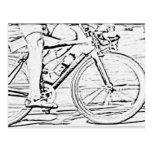Ciérrese para arriba de la bici tarjeta postal