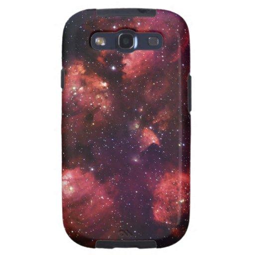 Ciérrese para arriba de la goma 64 de la nebulosa  galaxy s3 fundas