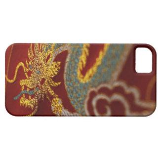 Ciérrese para arriba de la seda china funda para iPhone SE/5/5s