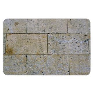 Ciérrese para arriba de la textura de piedra de la imanes rectangulares