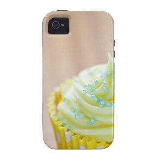 Ciérrese para arriba de la torta de la taza que vibe iPhone 4 carcasas