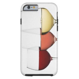Ciérrese para arriba de los vidrios de diversos funda resistente iPhone 6