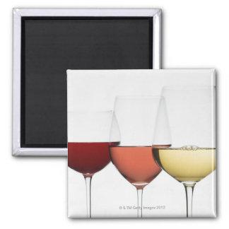 Ciérrese para arriba de los vidrios de diversos vi imán cuadrado