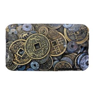 Ciérrese para arriba de monedas vietnamitas Case-Mate iPhone 3 fundas