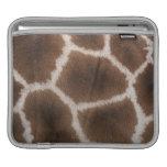 Ciérrese para arriba de piel de las jirafas mangas de iPad