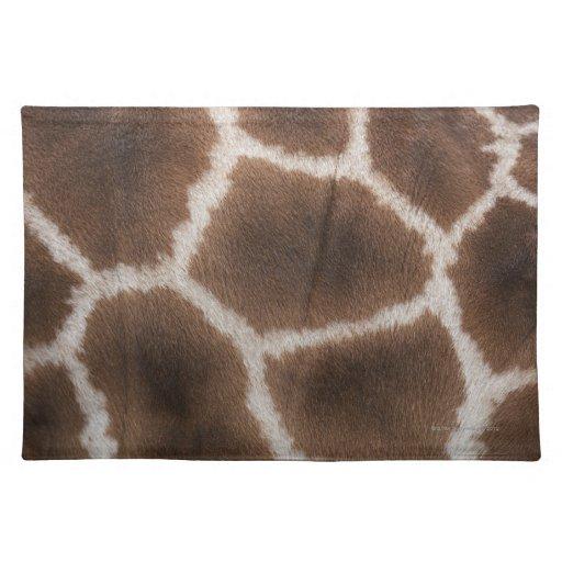 Ciérrese para arriba de piel de las jirafas manteles