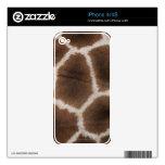 Ciérrese para arriba de piel de las jirafas skins para iPhone 4