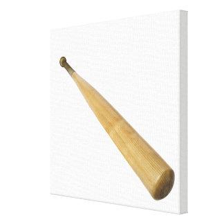 Ciérrese para arriba de un bate de béisbol impresión en lona estirada
