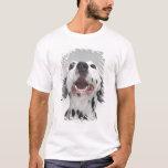 Ciérrese para arriba de un perro dálmata playera