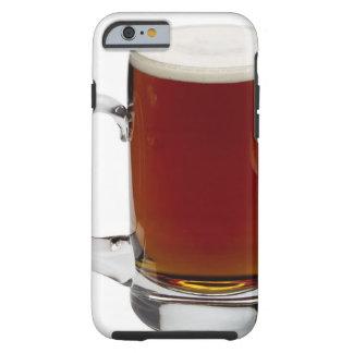 Ciérrese para arriba de un vidrio de la cerveza 3 funda de iPhone 6 tough