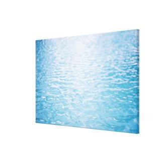 Ciérrese para arriba del agua ondulada, Miami, FL Impresión En Tela