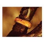 Ciérrese para arriba del anillo tarjetas postales