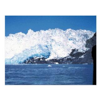 Ciérrese para arriba del glaciar de Chenega Tarjetas Postales