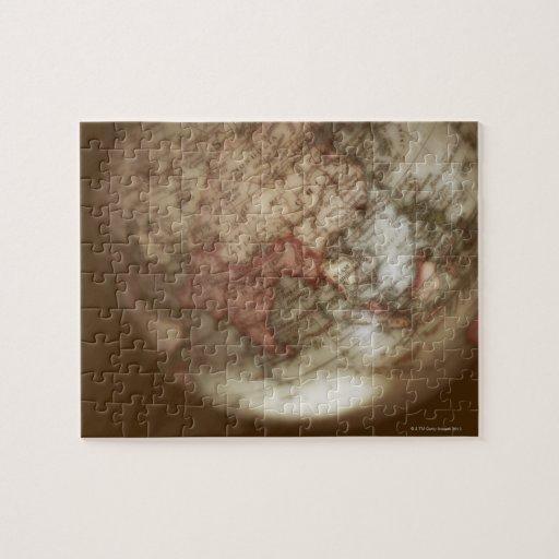Ciérrese para arriba del globo antiguo 2 puzzle