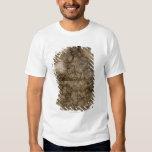 Ciérrese para arriba del mapa antiguo de camisas