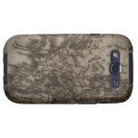 Ciérrese para arriba del mapa antiguo de Europa Galaxy S3 Protector