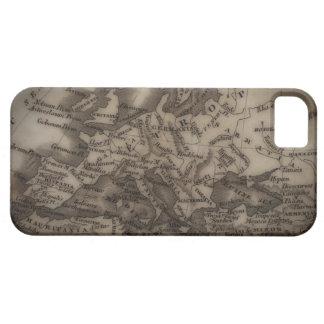 Ciérrese para arriba del mapa antiguo de Europa Funda Para iPhone 5 Barely There