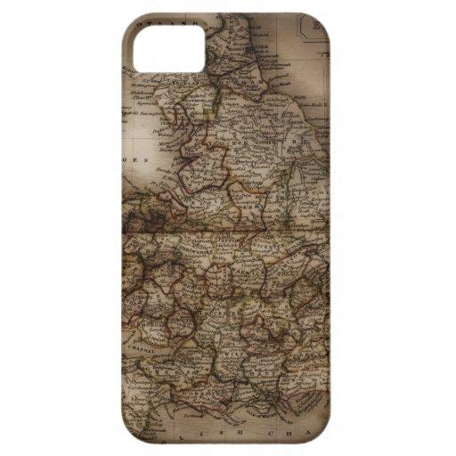Ciérrese para arriba del mapa antiguo de funda para iPhone 5 barely there