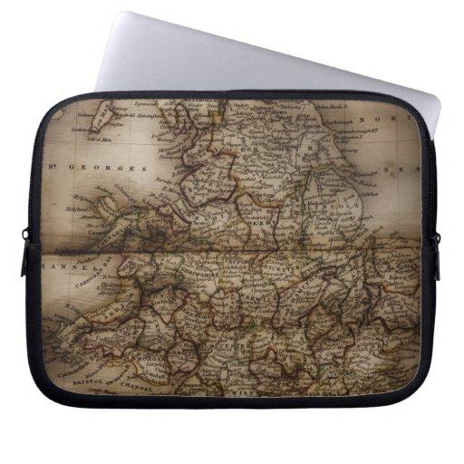 Ciérrese para arriba del mapa antiguo de mangas portátiles