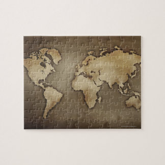 Ciérrese para arriba del mapa del mundo antiguo 4 puzzle