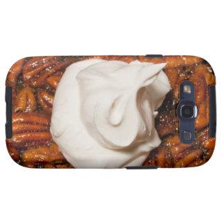 ciérrese para arriba del pastel de pacanas con cre galaxy s3 cobertura