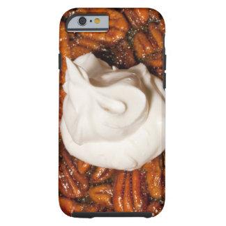ciérrese para arriba del pastel de pacanas con funda resistente iPhone 6