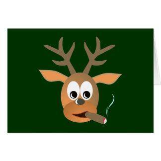 Ciervo cigarro deer cigar tarjeta de felicitación