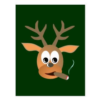 Ciervo cigarro deer cigar tarjetas postales
