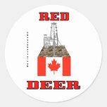 Ciervo común, Canadá, pegatina de la plataforma pe