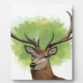 Ciervo común placa de madera