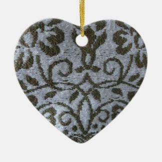 ciervo del ornamento de la materia textil adorno navideño de cerámica en forma de corazón