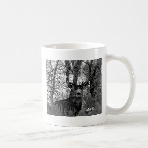 ciervo mula 5x5 taza de café
