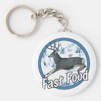 Ciervo mula de los alimentos de preparación rápida llavero redondo tipo pin