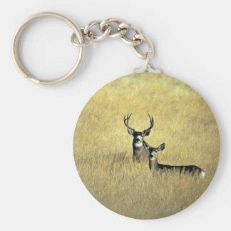 Ciervo mula llavero redondo tipo pin
