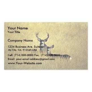 Ciervo mula tarjeta de visita