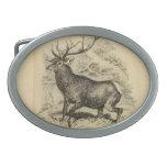 Ciervos (1849) hebillas de cinturón ovales