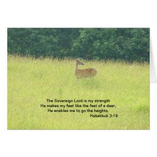 Ciervos 3 19 de Habakkuk Tarjeton