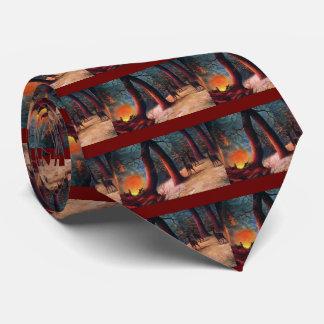 Ciervos asustados en la oscuridad corbata personalizada